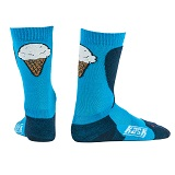 Ice cream socks blue