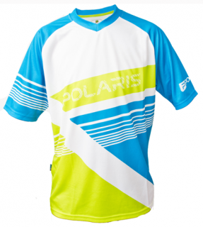 Freeride dres Polaris - AM Gravity, Cyan/Lime